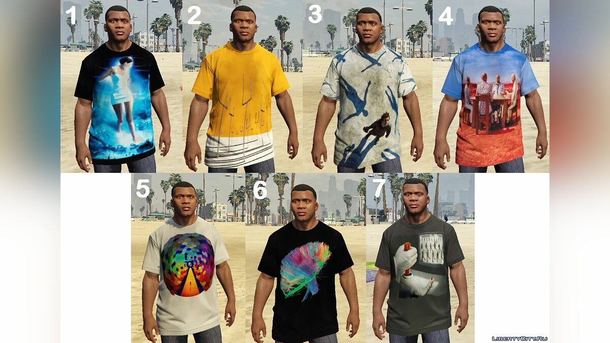 �������� � ����� Muse T-Shirt Pack ��� GTA 5