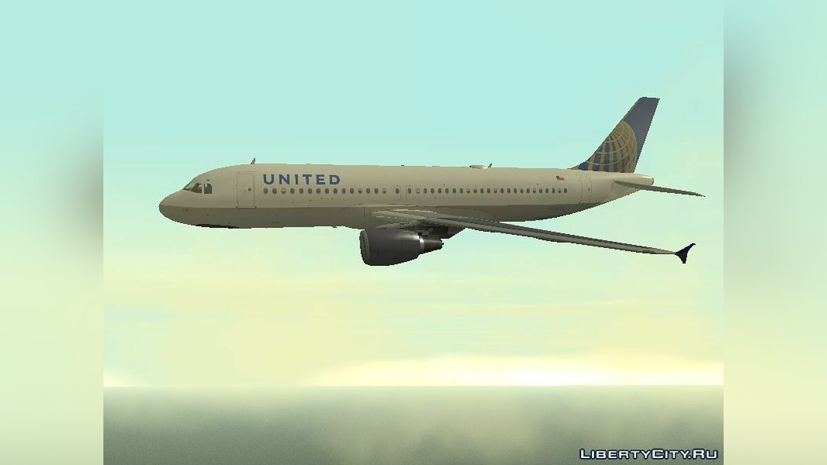 ������� � �������� United Airlines Airbus A320-200 ��� GTA San Andreas