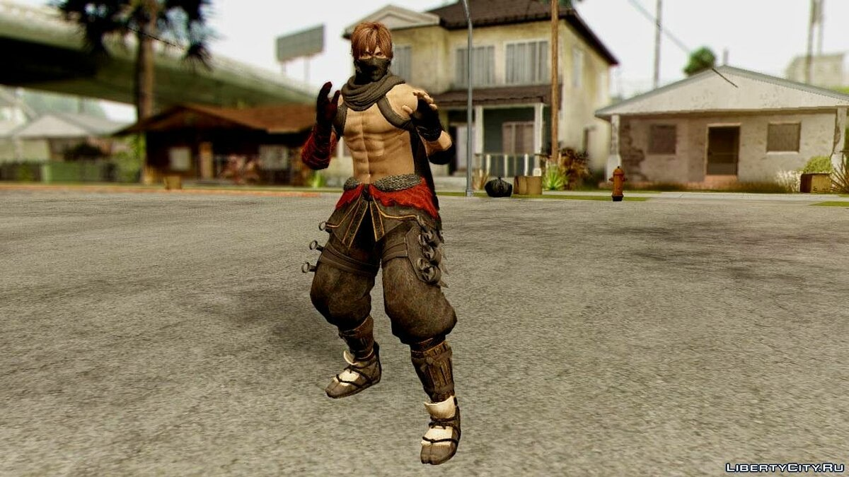 ����� �������� Ryu True Fighter From Dead Or Alive 5 ��� GTA San Andreas