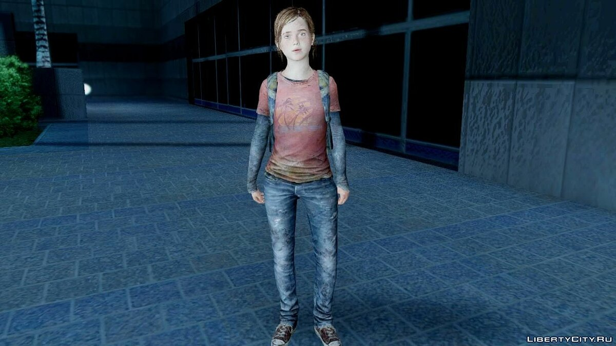 ����� �������� The Last Of Us Ellie ��� GTA San Andreas