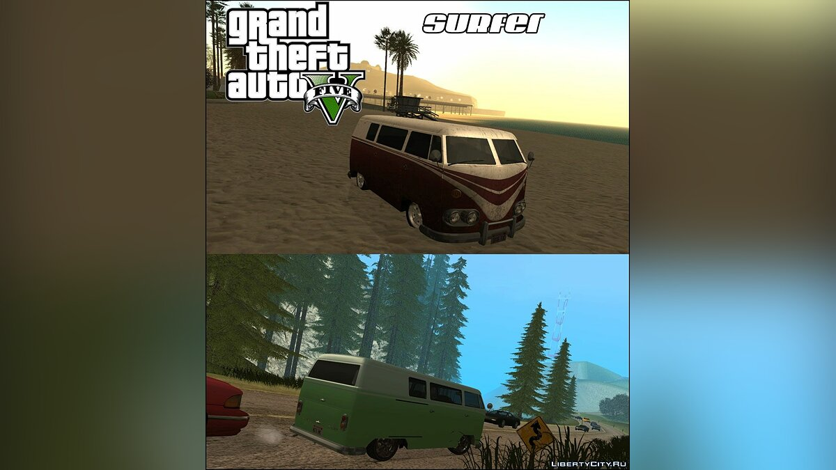 ������ GTA V Surfer ��� GTA San Andreas