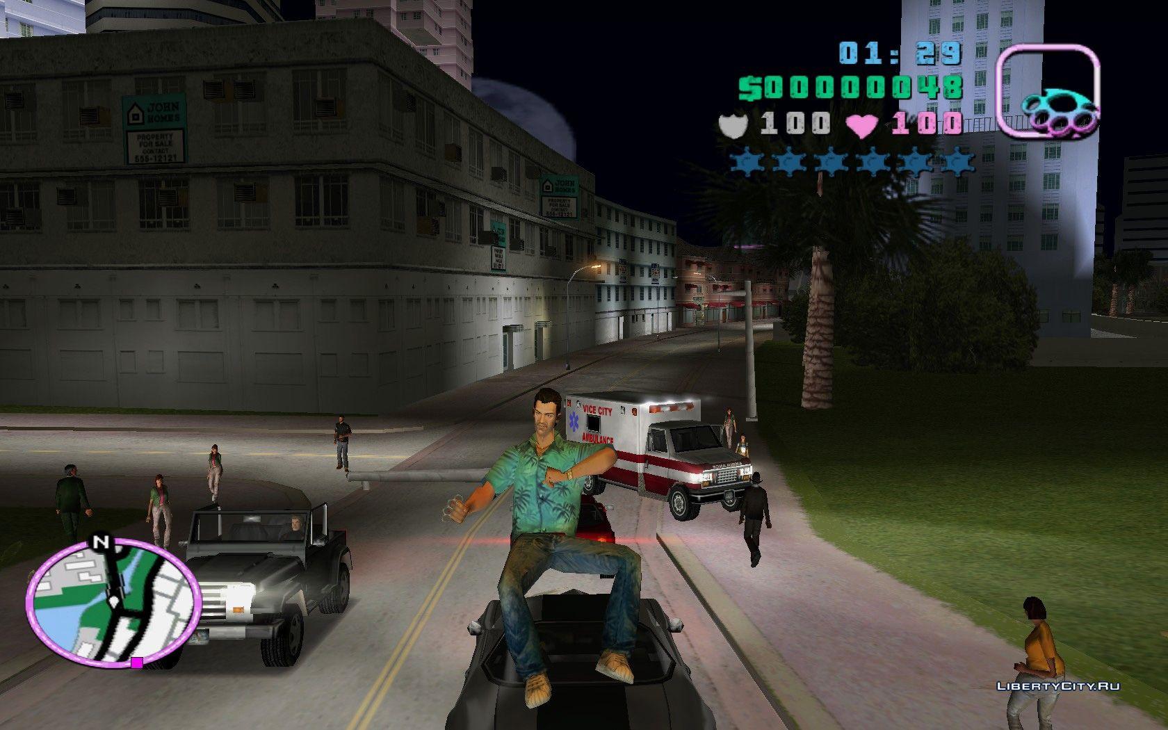 Чит коды GTA Vice City на деньги, машины, вертолет
