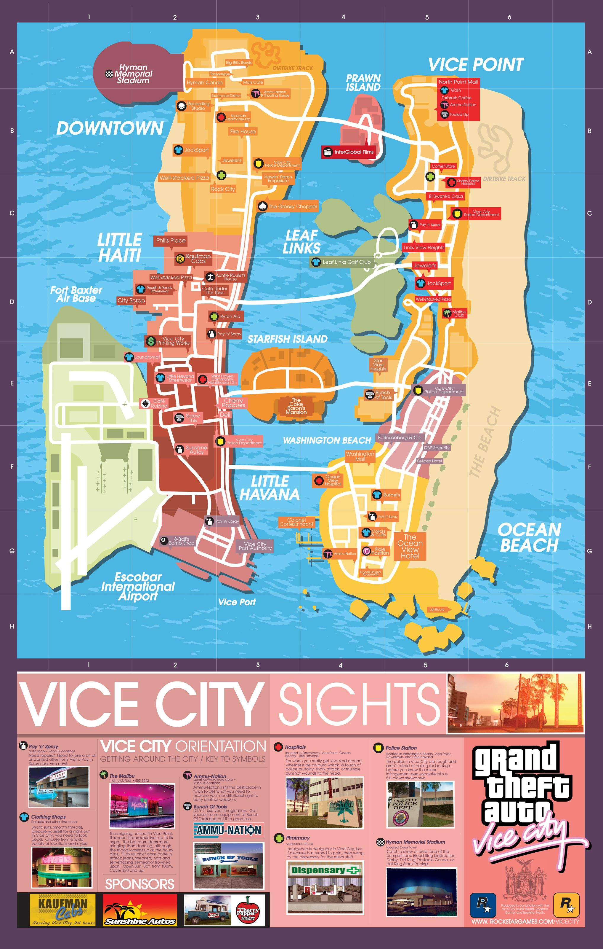 Gta Vice City Map Of Missions